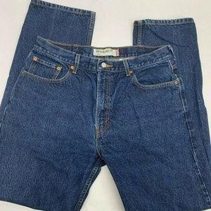 Levis 505 Zipper Fly Jeans Mens 38 x 34 Dark  Blue